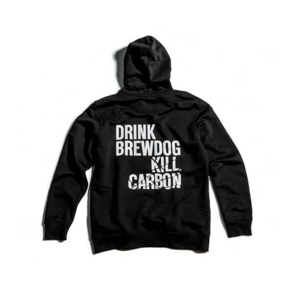 Μαύρο φούτερ BrewDog - Carbon με κουκούλα