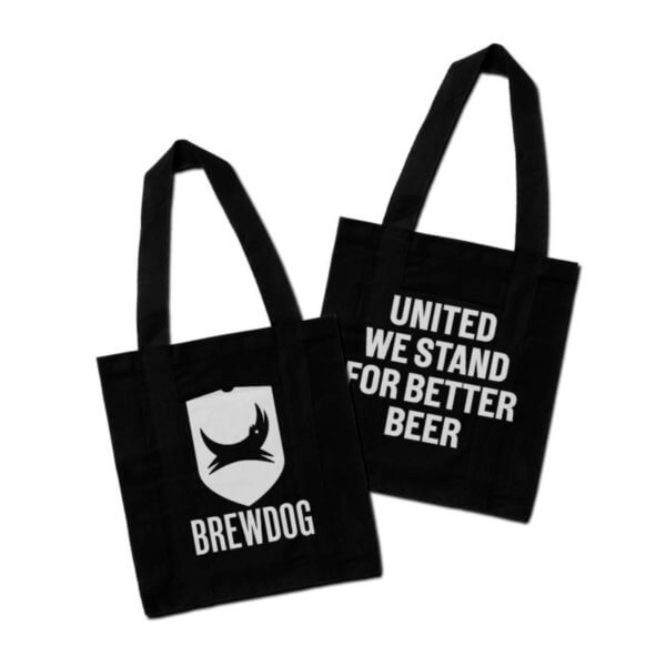 Μαύρη τσάντα ώμου BrewDog / 100% βαμβάκι tote